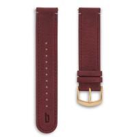 B020B Lilienthal Armband Leder Amarena Schliesse Gold
