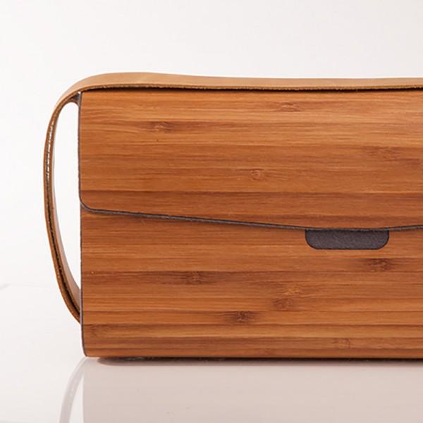 Hantasche Holz Bambus grau detail