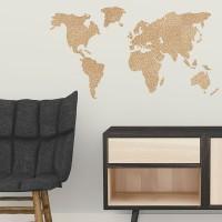 Weltkarte Pinnwand aus Kork Wand
