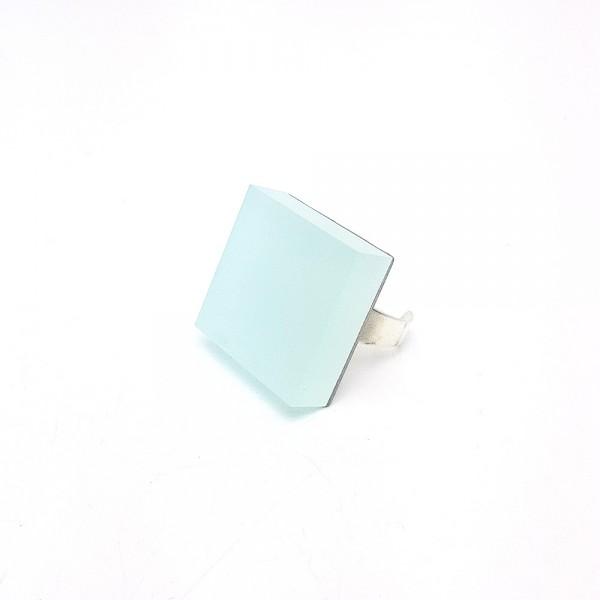Quadrat Eisblau