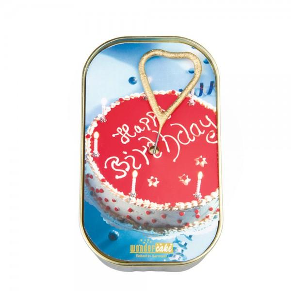 Wondercake Minikuchen Dosenkuchen Kerze Happy Birthday Kuchen
