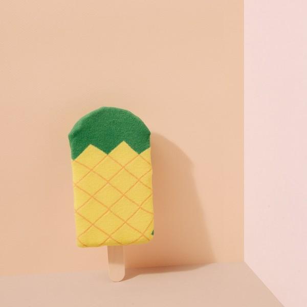 Bunte Socken Icepop Ananas