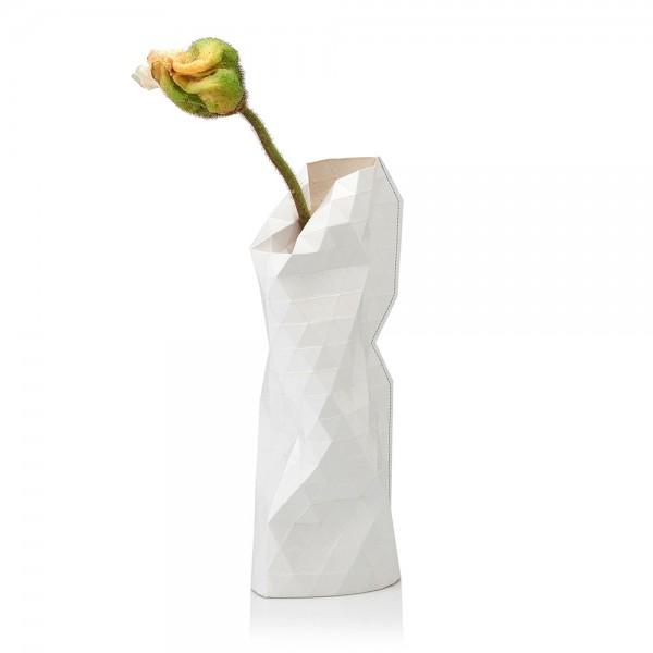 Papiervase klein plain white