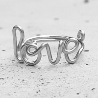 Ring Love Silber