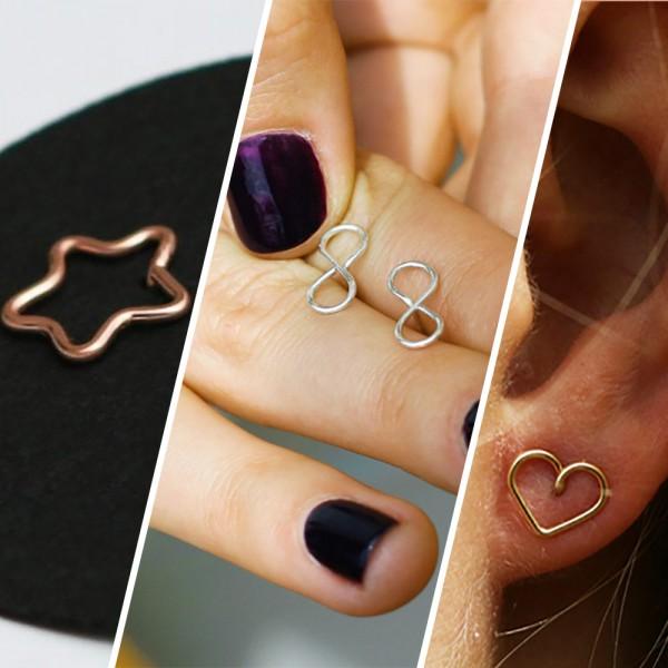 Draht Ohrringe aus Silberdraht