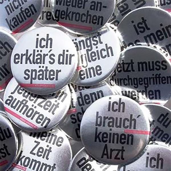 Klaus Sievers Buttons für Versager