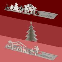 Weihnachtsgrußkarten aus Edelstahl - 5 Varianten zur Auswahl