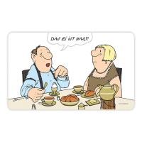 """Lustiges Frühstücksbrettchen - Loriot """"Das Ei ist hart"""""""