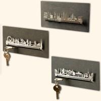 Schlüsselbrett aus Holz - Skyline Berlin