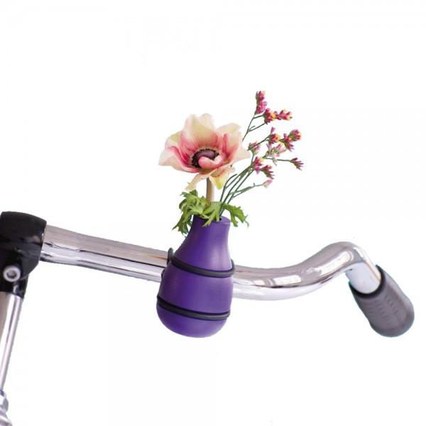 Fahrradvase Lenker Frieda lila