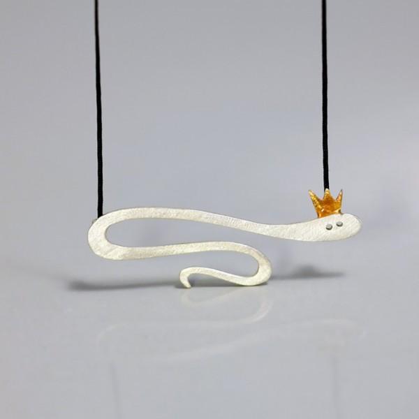 Halskette Silber Schlange 1