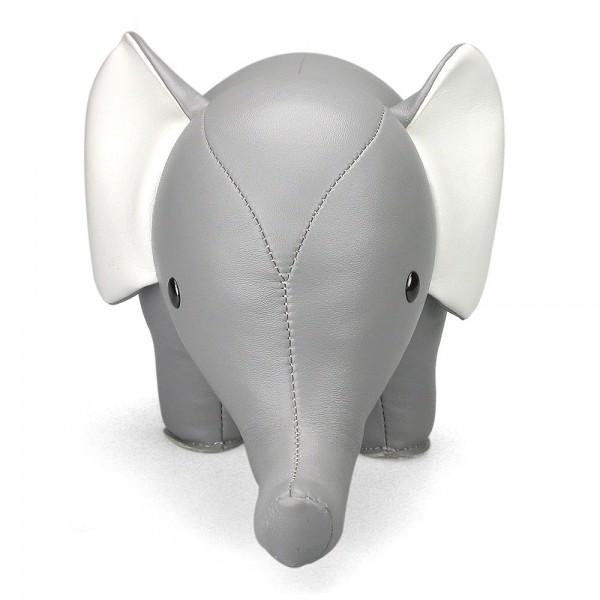 Türstopper und Buchstütze von Züny Grau Elefant Vorne