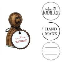 """Stempel """"Handmade"""" und weitere Varianten in 2 Größen"""