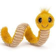 Kuscheltier Wurm Wiggly gelb klein 16 cm von jellycat