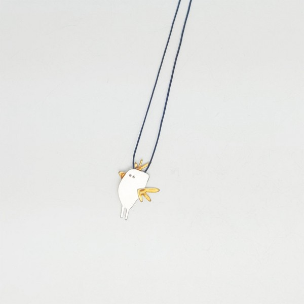 Kette mit Anhänger - Vogel
