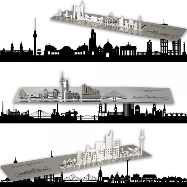 """Grußkarte """"Städte"""" aus Edelstahl"""
