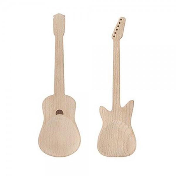 Salatbesteck Holz Gitarre
