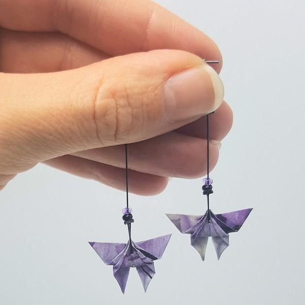 """Origami Ohrstecker als """"Schmetterling"""" in 3 unterschiedlichen Farben"""