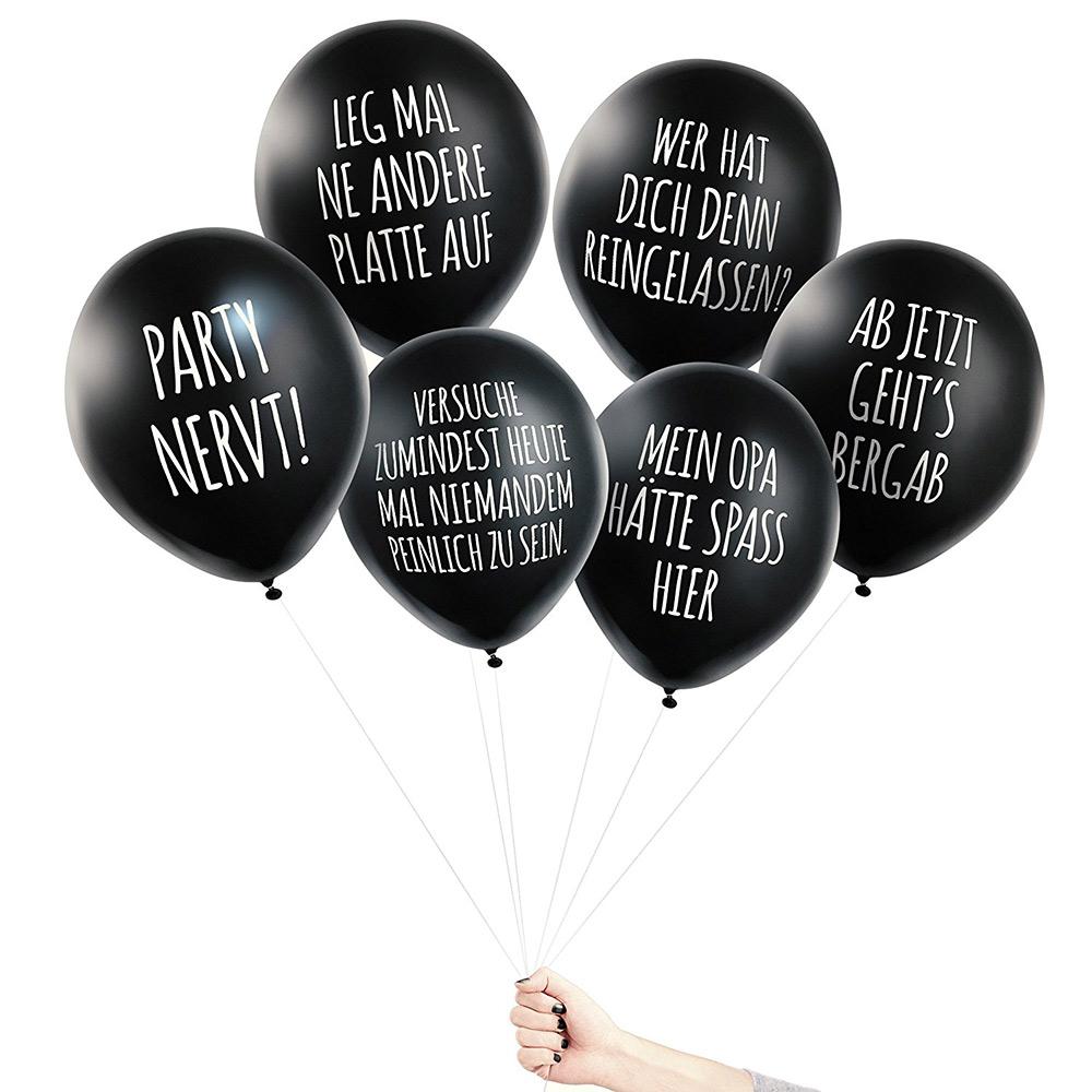 Pechkeks Anti Party Ballons Schwarzer Humor Promobo De