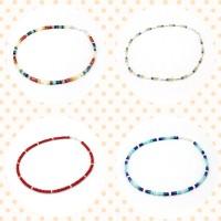 Halskette mit echten Steinen - handgemacht von Steinzeug