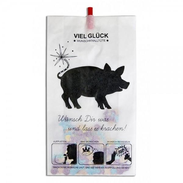 Wunschknalltüte Schwein