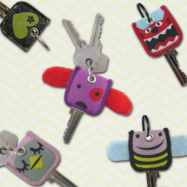 Schlüsselkappen - Schlüsselüberzieher mit 9 Motiven