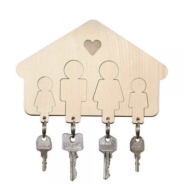 Schlüsselbrett Familie