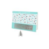 Edelstahl Grußkarte Weihnachten Skulpo Tannenbaum