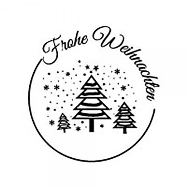 Stempel Frohe Weihnachten Wald